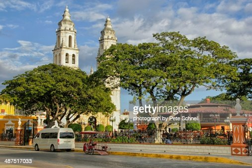 Plaza Principal in Campeche, Mexico