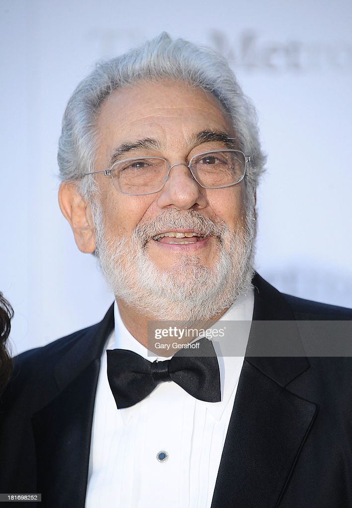 Plácido Domingo attends the season opening performance of Tchaikovsky's 'Eugene Onegin' at The Metropolitan Opera House on September 23, 2013 in New York City.