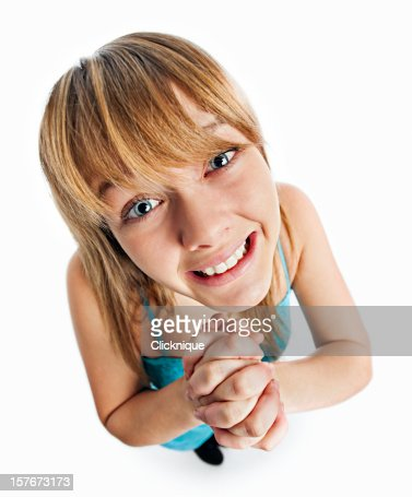 Pleading female teenager