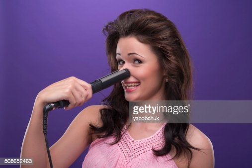 Pleasant housewife : Stock Photo