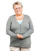 Pleasant Senior Woman (Isolated on White)