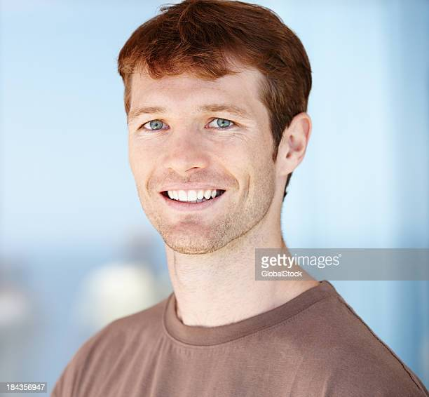 Pleasant smile by young man