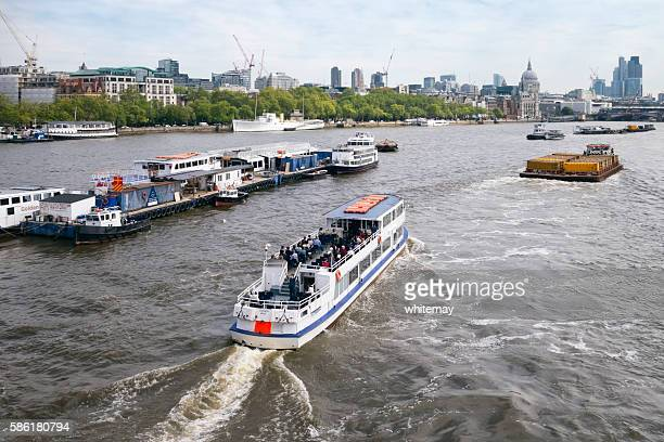 Pleasure boat on the River Thames, London