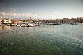 Pleasure boats in small Greek harbor