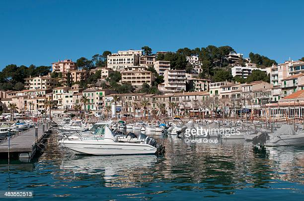 Pleasure boats in the Marina at Port de Soller.