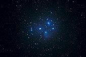 open cluster pleiades in taurus constellation (m45)