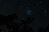 Astrophotography of the Pleiades constellation