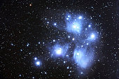 The Pleiades (also known as M45 or the Seven Sisters) is the name of an open cluster in the constellation of Taurus. It is among the nearest to the Earth of all open clusters, probably the best known