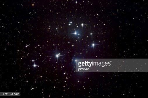 Pleiades Star Cluster and Nebula