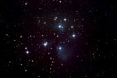 Pleiades Star Cluster and Nebula
