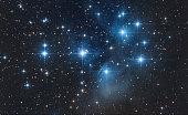 A little constellation in the dark night sky