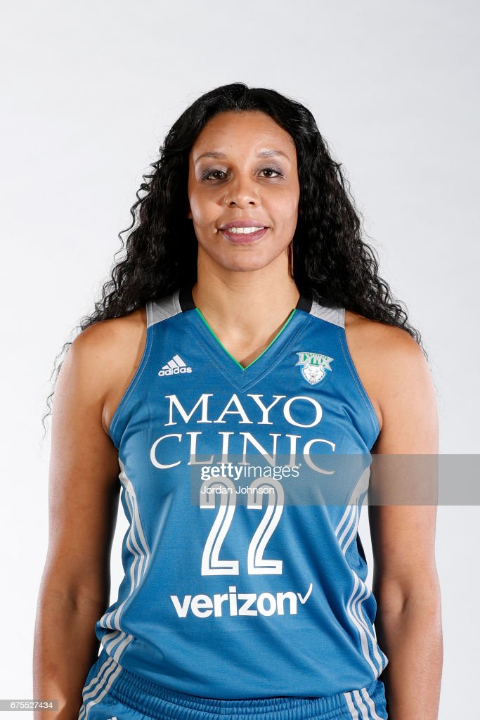 Plenette Pierson #22 of the Minnesota Lynx poses for portraits during 2017 Media Day on May 1, 2017 at the Minnesota Timberwolves and Lynx Courts at Mayo Clinic Square in Minneapolis, Minnesota.