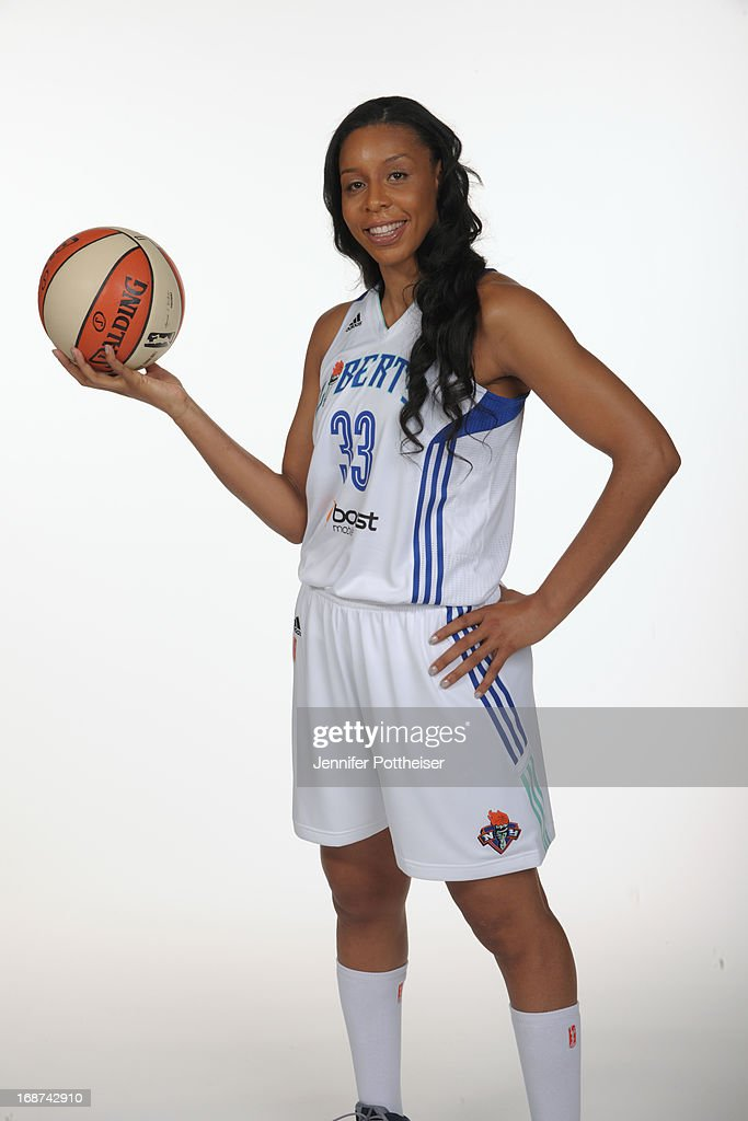 Plenette Pierson #33 of the New York Liberty poses for a photo during WNBA Media Day on May 13, 2013 at the Madison Square Garden Training Facility in Tarrytown, New York.