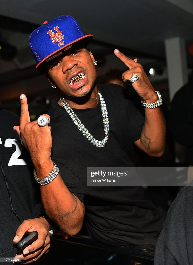 Plies attends a party hosted by Kevin Hart at Compound on December 1, 2012 in Atlanta, Georgia.