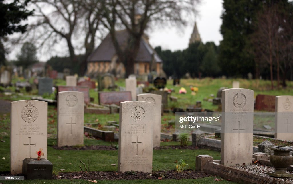 A plot of war graves that have recently been restored are seen at Trowbridge Cemetery on December 14, 2012 in Trowbridge, England. The group of 19 war graves has been renovated as part of a wider programme across the UK recognising those who died in the two world wars. The Commonwealth War Graves Commission is responsible for marking and maintaining the graves of those members of the Commonwealth forces who died during the two world wars, for building and maintaining memorials to the dead whose graves are unknown and for providing records and registers of these 1.7 million burials and commemorations found in most countries throughout the world.