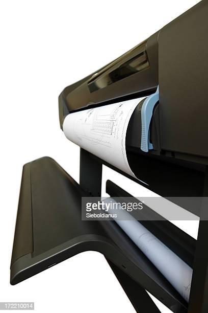 Plotter / Printer isolated on white background.