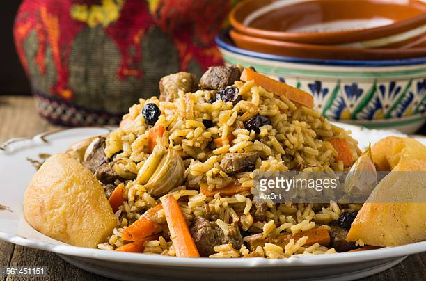 Plov with lamb and quince