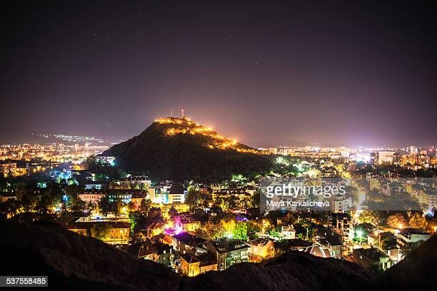 Plovdiv hills at night, Eastern Europe, Bulgaria