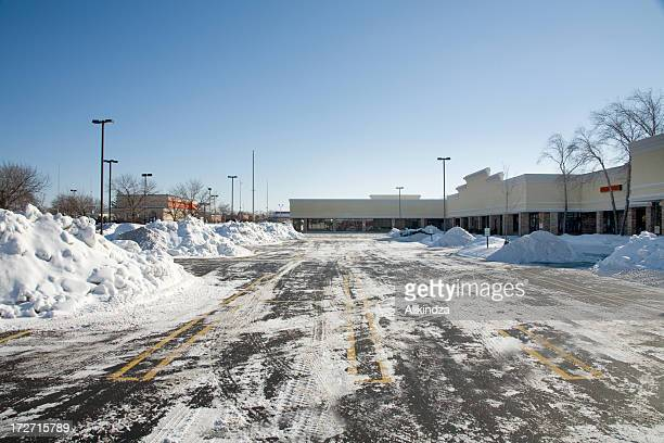 plowed parking lot