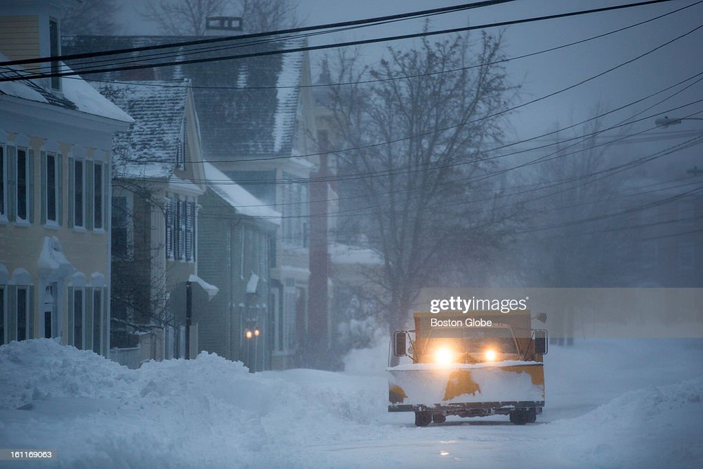 Plows were out before the sun rose in Newburyport as a large winter storm hit the region.