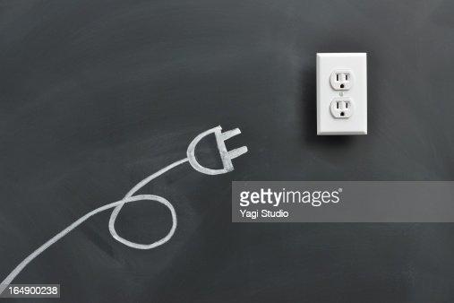 Plug drawing on the blackboard