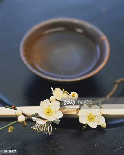 Plum blossoms and bamboo chopsticks