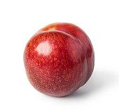 fresh plum fruit isolated on white background