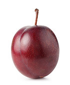 Plum isolated on white background with clipping path