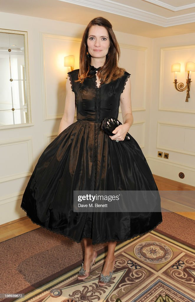Plum Sykes attends a drinks reception at the 58th London Evening Standard Theatre Awards in association with Burberry at The Savoy Hotel on November 25, 2012 in London, England.