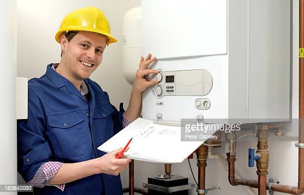 Plumber with boiler