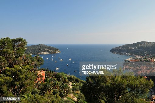 Plunging view on Villefranche-sur-mer.