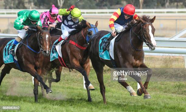 Plus Effronte ridden by Ben Allen wins the Stawell Glass Maiden Plate at Stawell Racecourse on April 16 2017 in Stawell Australia