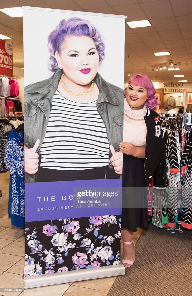 Plus-size fashion designer and winning reality TV star, Ashley Nell Tipton poses for photo at the launch of JCPenney's newest plus size collection, Boutique+ at JCPenney on May 24, 2016 in Glendale, California.