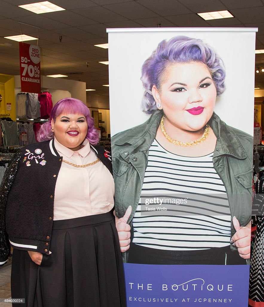 Plus-size fashion designer and winning reality TV star Ashley Nell Tipton introduces the new Boutique+ at JC Penny in the Glendale Galleria on May 24, 2016 in Glendale, California.