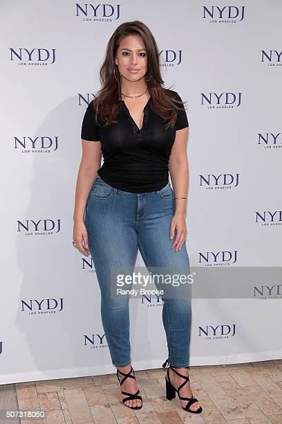 Plussize model Ashley Graham attends the NYDJ 2016 Fit To Be Campaign Launch at Lord Taylor on January 28 2016 in New York City