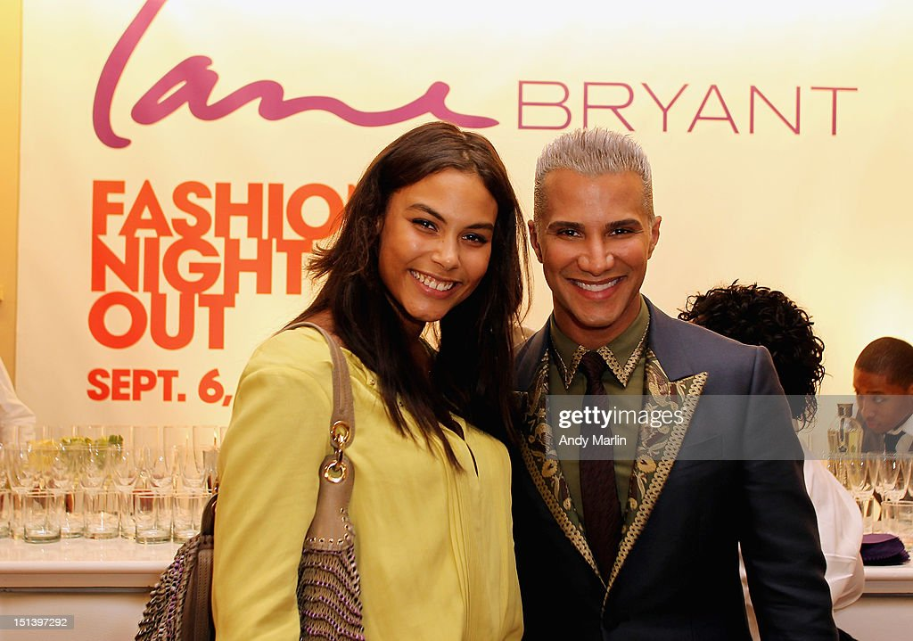 Plus-size model Marquita Pring (L) and Jay Manuel pose for a photo during Fashion Guru Jay Manuel Hosts Lane Bryant's Fashion Night Out on September 6, 2012 in Brooklyn, New York.