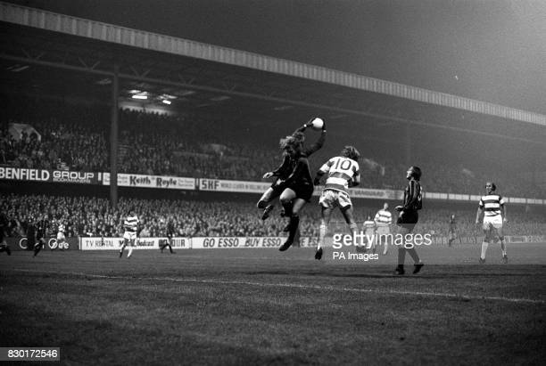 Plymouth Argyle goalkeeper Jim Furner in action during their football match against Queen's Park Rangers at Loftus Road London Partly hidden is Neil...
