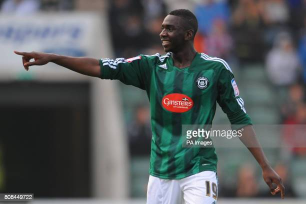 Plymouth Argyle's Yala Bolasie celebrates his goal during the npower League One match at Home Park Plymouth