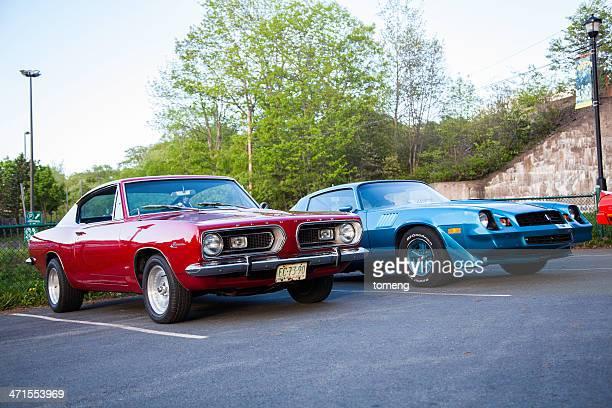 Plymouth Barracuda and Chevrolet Camaro