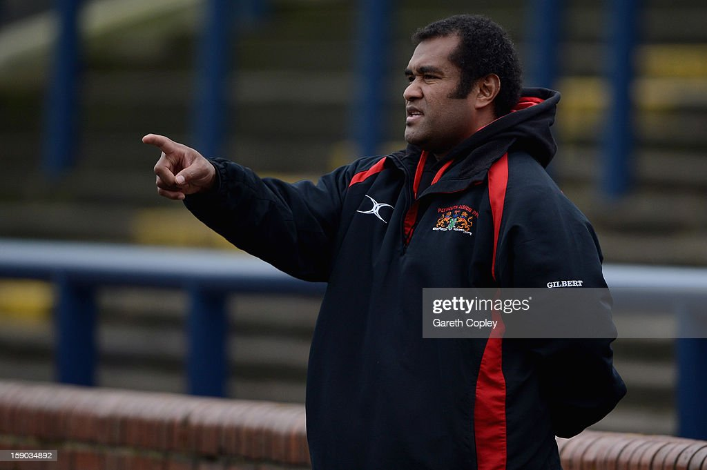 Plymouth Director of Rugby Nat Saumi ahead the RFU Championship match between Leeds Carnegie and Plymouth Albion at Headingley Carnegie Stadium on January 6, 2013 in Leeds, England.