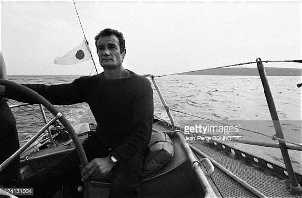 Plymouth/Newport single handed transatlantic race In United Kingdom On June 04 1976 Eric Tabarly on Pen Duick VI