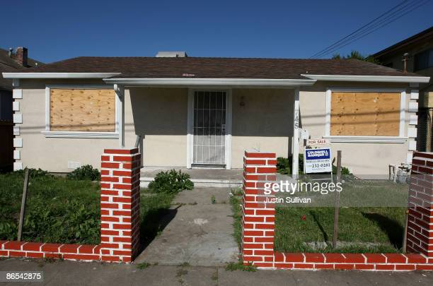 Plywood covers the windows of a foreclosed home for sale May 7 2009 in Richmond California A study of government data on subprime loans by the Center...