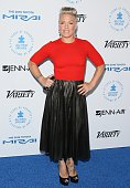 Pnk attends the Autism Speaks to Los Angeles celebrity chef gala held at the Barker Hangar on October 8 2015 in Santa Monica California