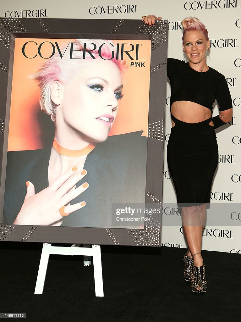 P!nk is announced as the newest face of COVERGIRL Cosmetics at Shutters on the Beach on August 6, 2012 in Santa Monica, California.