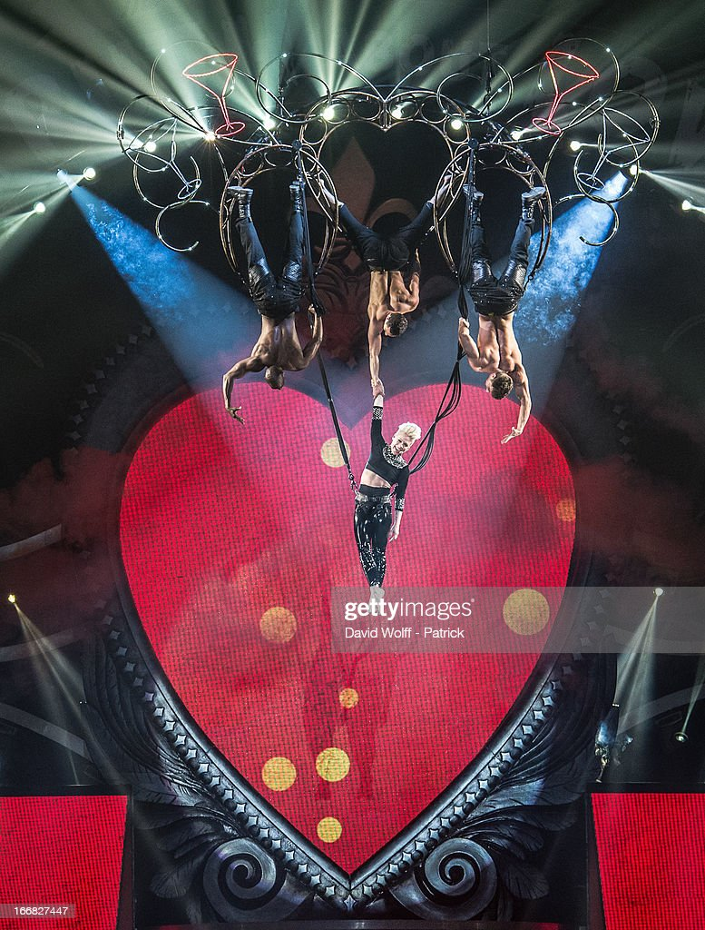 P!nk performs at Palais Omnisports de Bercy on April 17, 2013 in Paris, France.