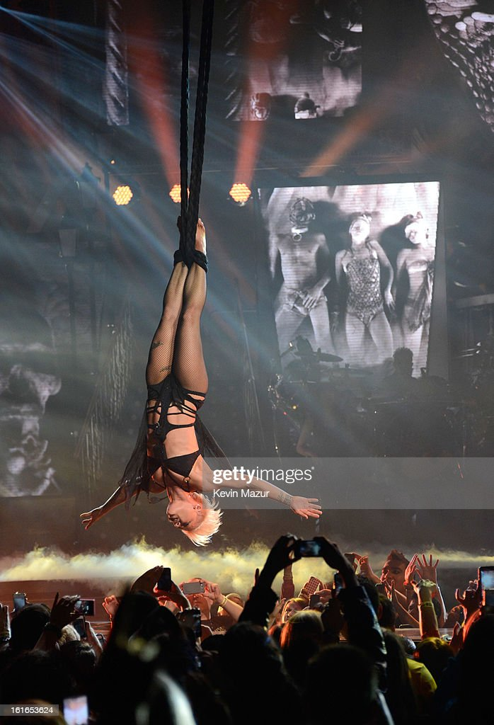 P!nk performs during 'The Truth About Love' tour opener at US Airways Center on February 13, 2013 in Phoenix, Arizona.