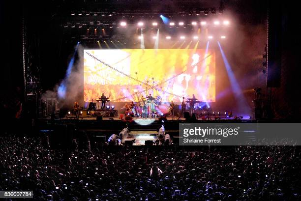 Pnk performs live on stage headlining V Festival 2017 at Weston Park on August 20 2017 in Stafford England