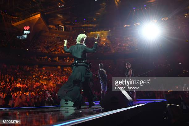 Pnk performs onstage during the 2017 iHeartRadio Music Festival at TMobile Arena on September 22 2017 in Las Vegas Nevada
