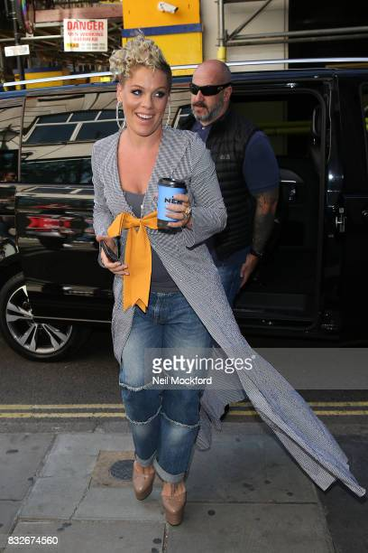 Pnk seen at KISS FM UK on August 16 2017 in London England