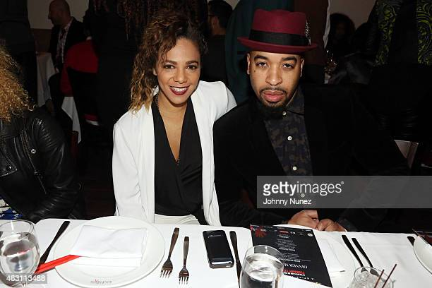 Po Johnson and De'Von Christopher Johnson attend 'Da Sweet Blood Of Jesus' dinner reception at Red Stixs on February 9 in New York City